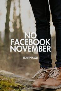nofacebooknovember
